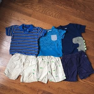 Size 2 boys shorts and shirts blue and cargo